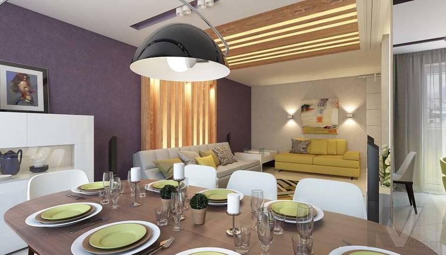 Дизайн гостиной в 2-комнатной квартире в Мытищах - 4