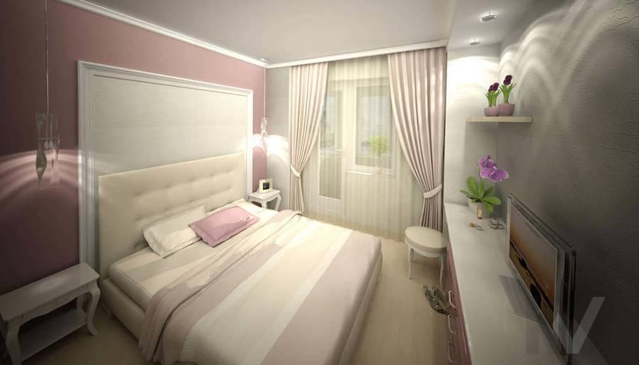 Дизайн квартиры И-155, спальня-3