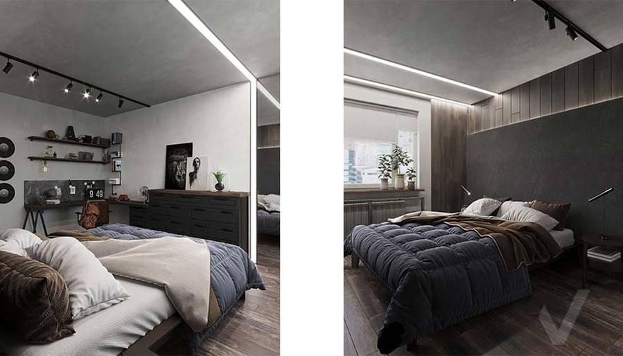 Дизайн спальни в квартире П-44, м. Кузьминки - 3