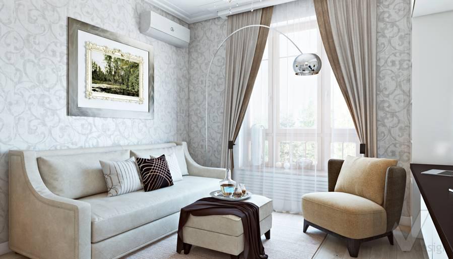 Гостевая комната в двухкомнатной квартире, ЖК Виноградный - 1