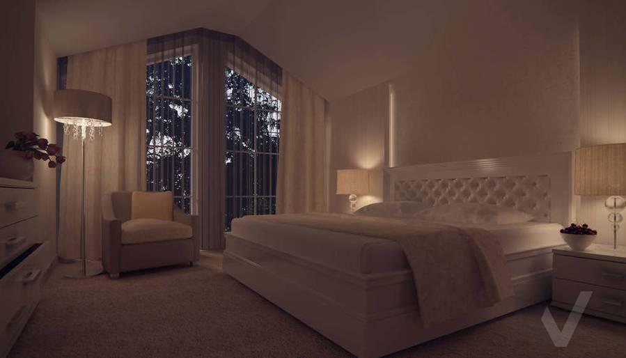Дизайн таунхауса в п. Жаворонки, спальня-3