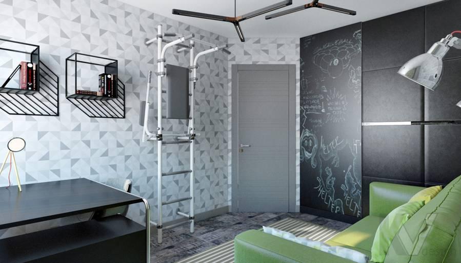 Комната мальчика в 2-комнатной квартире П-111М, Тропарево - 2
