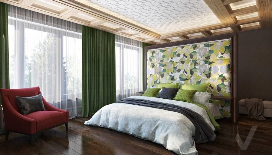 Дизайн спальни в трехэтажном доме - 1