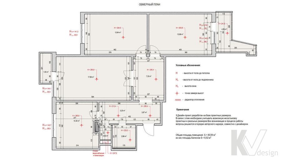 Дизайн квартиры П-3, план