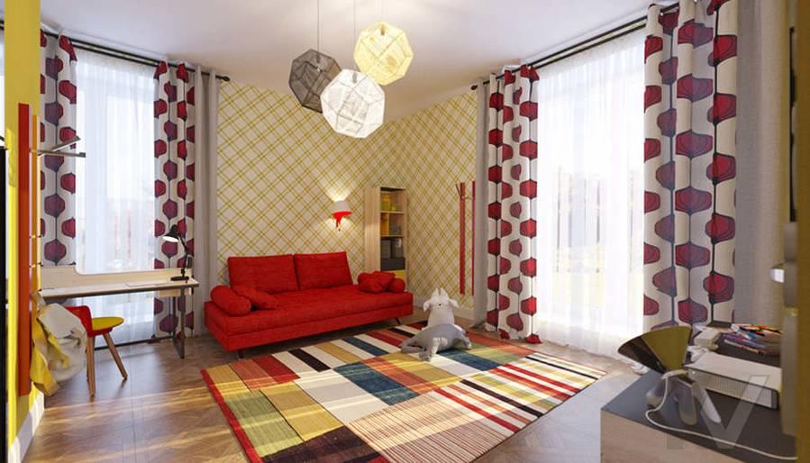 Дизайн спальни дочери в доме, КП Монтевиль - 5