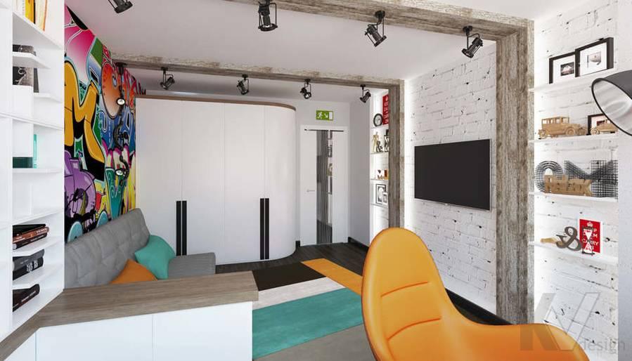 Дизайн комнаты мальчика в 5-комнатной квартире, Климовск - 5