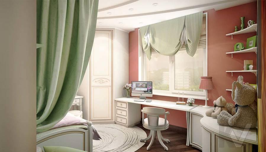 дизайн детской комнаты девочки, Одинцово - 1