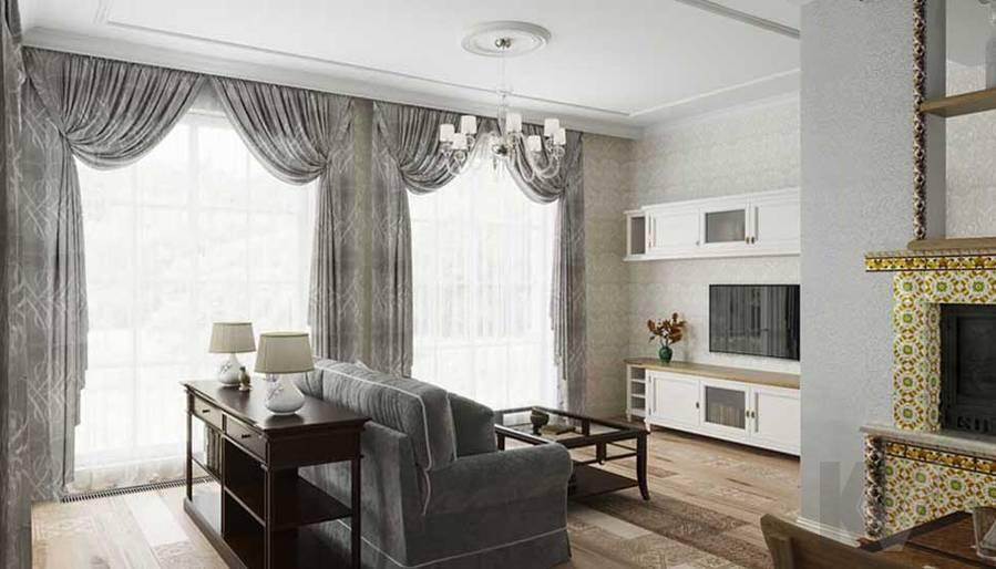 Гостиная в будущем доме в Софрино - 4