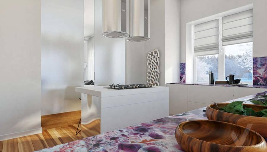 Дизайн кухни в доме, КП Пестово - 4