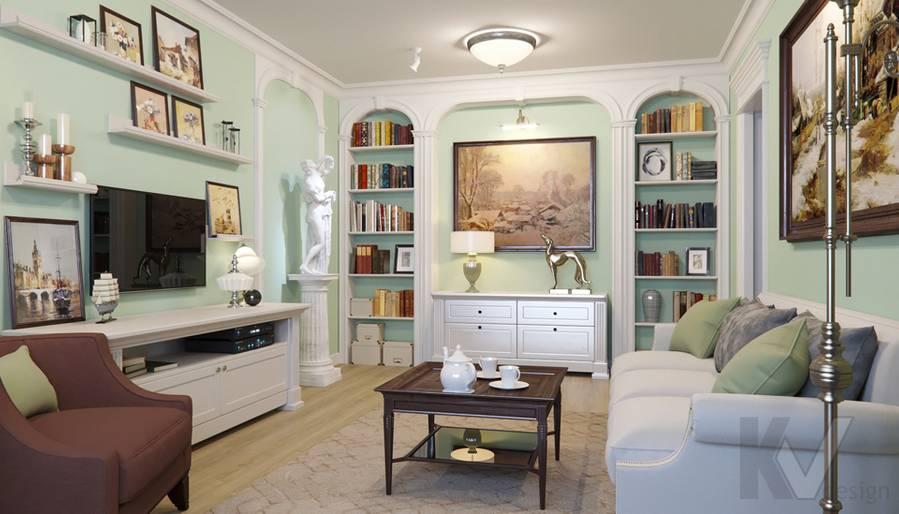 Дизайн гостиной в квартире в Крылатском - 1
