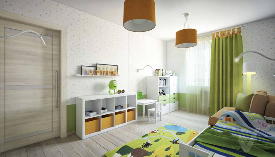 дизайн детской младшего ребенка серии П-3, Новое Ясенево - 2