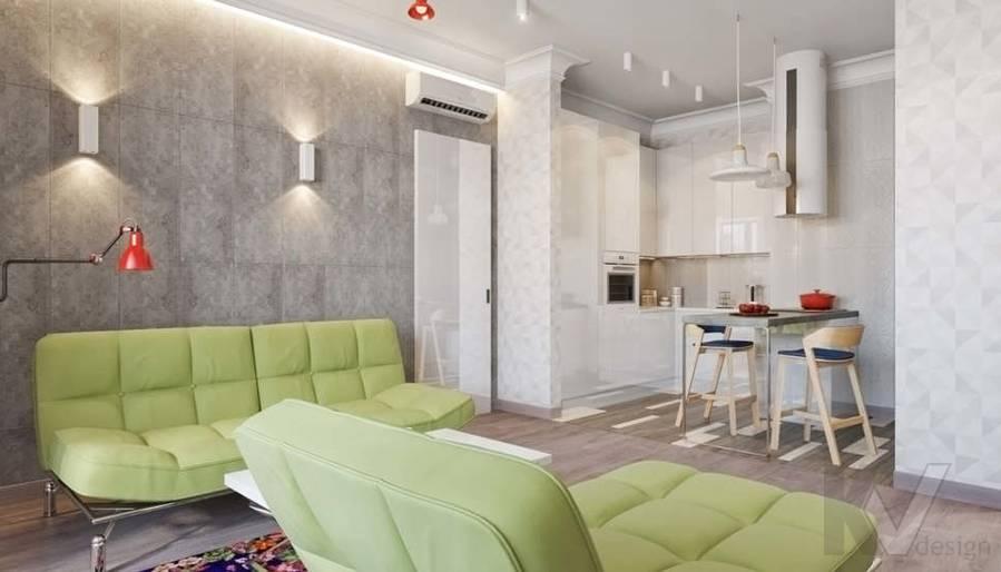 дизайн гостиной, квартира на Мосфильмовской - 3