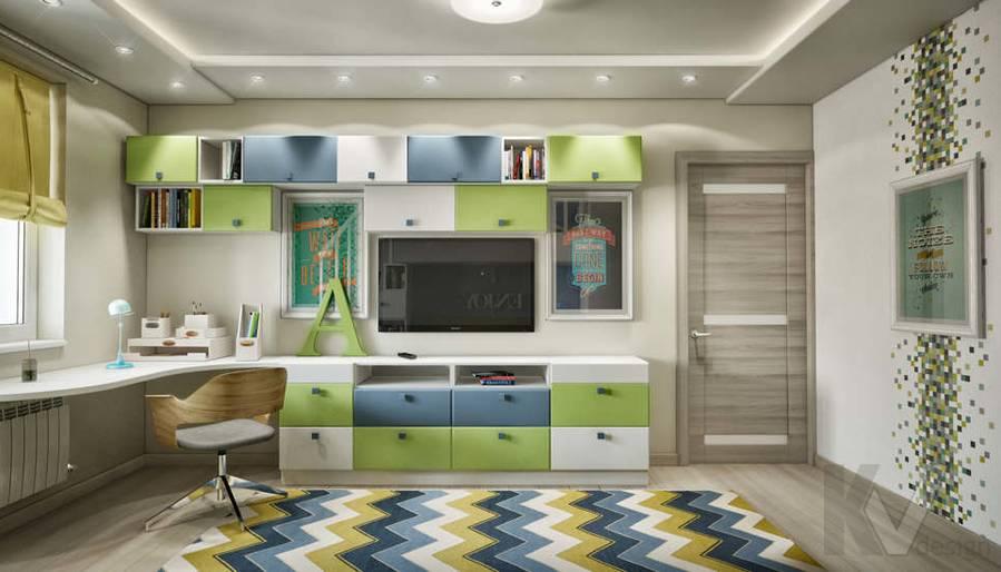 дизайн комнаты старшего ребенка серии П-3, Новое Ясенево - 2