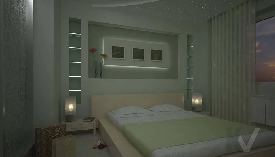 Дизайн квартиры в Марьино, спальня-2