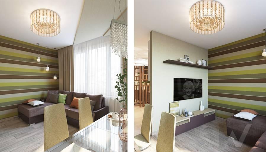 дизайн гостиной в 3-комнатной квартире, Welton Park - 5