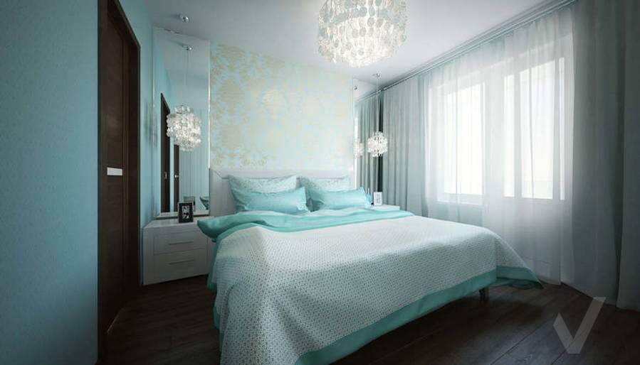 Дизайн спальни в 2-комнатной квартире, Мытищи - 1