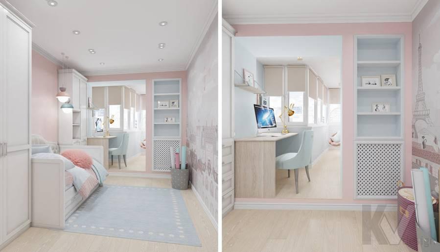 Дизайн детской в квартире серии П-3, м. Братиславская - 3