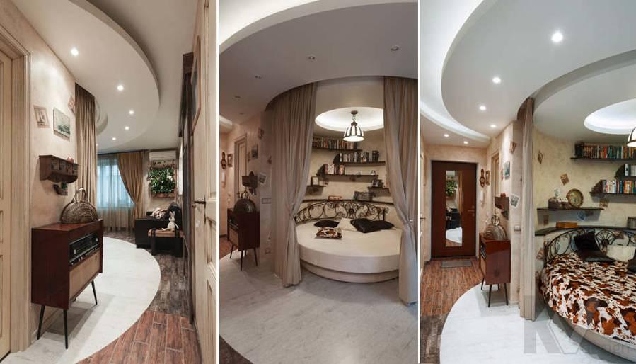 дизайн однокомнатной квартиры - фотогалерея  гостиной