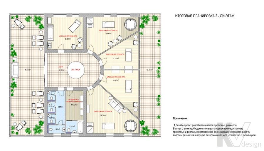 Дизайн СПА-салона, перепланировка-2
