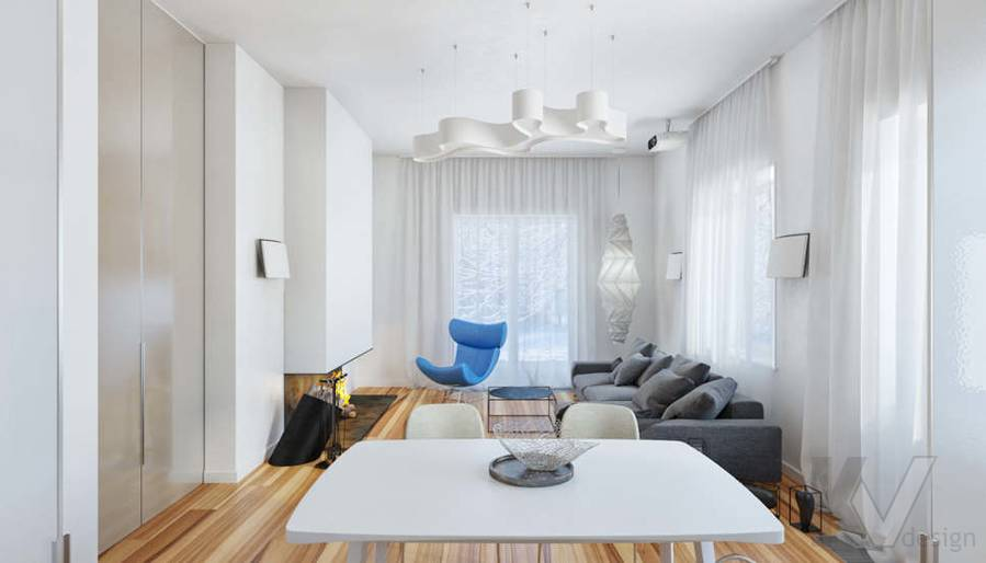 Дизайн гостиной в доме, КП Пестово - 8