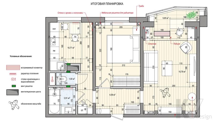 Перепланировка квартиры в Крылатском