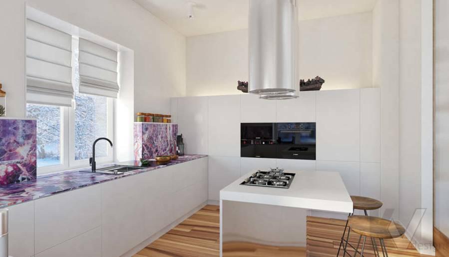 Дизайн кухни в доме, КП Пестово - 7