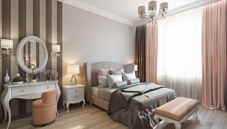 """Дизайн спальни в 2-комнатной квартире, ЖК """"Авеню 77"""" - 4"""