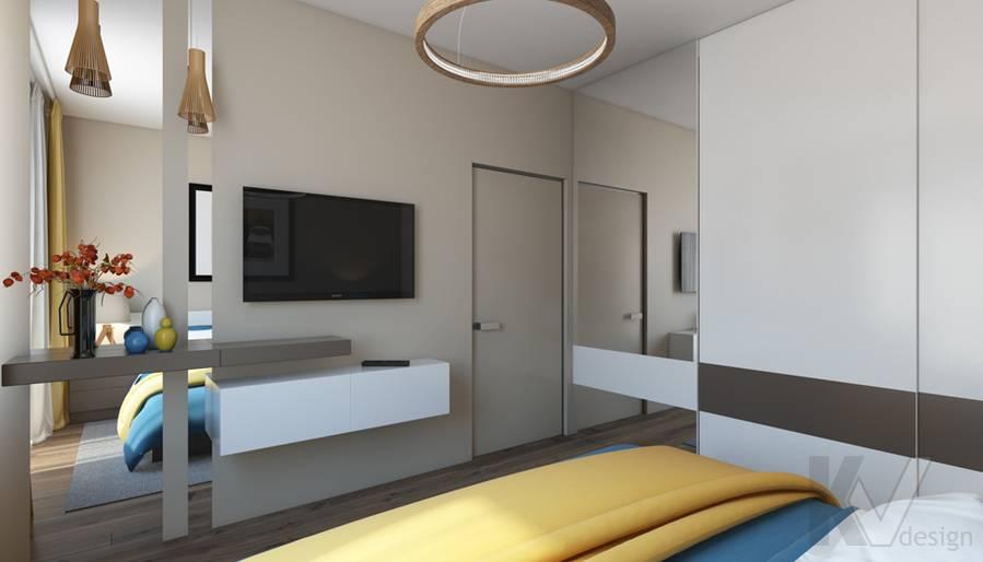 дизайн спальни в квартире на проспекте Вернадского - 3