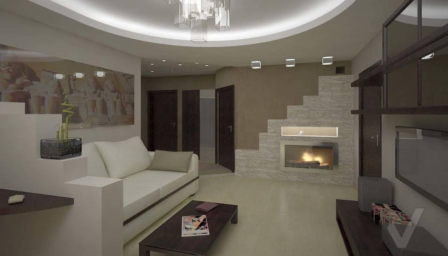 Дизайн квартиры в Марьино, гостиная