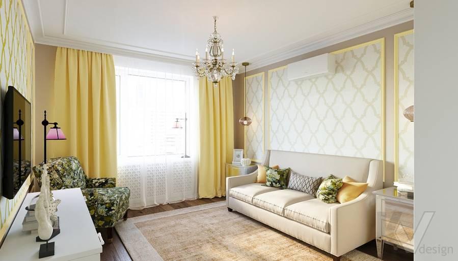 Дизайн гостевой комнаты в квартире на м. Смоленская - 1