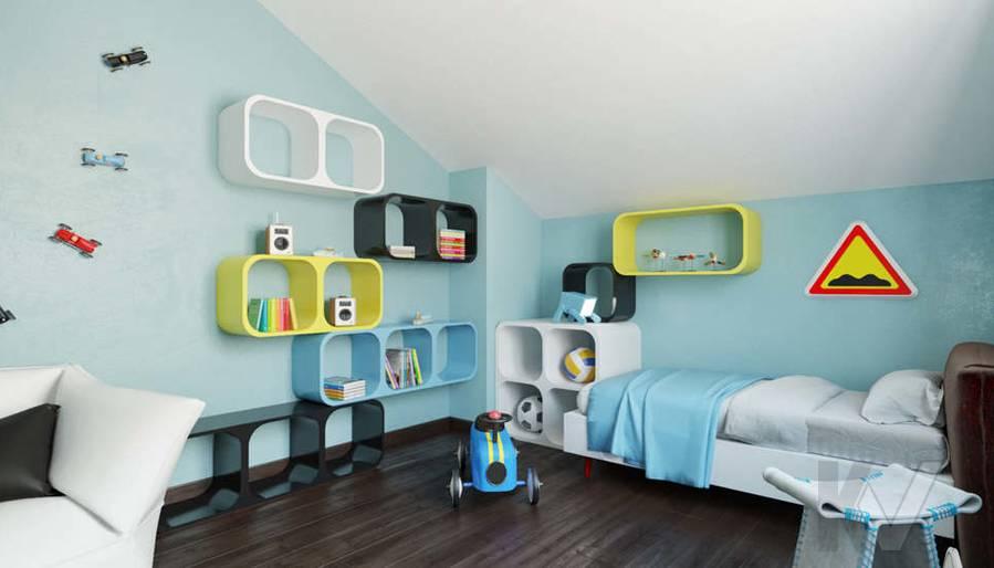 Дизайн комнаты мальчика в доме, КП Пестово - 10
