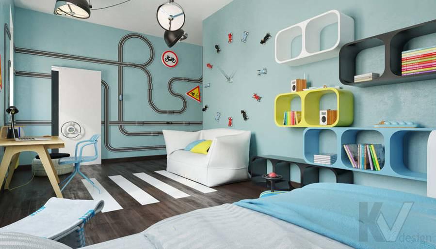 Дизайн комнаты мальчика в доме, КП Пестово - 1