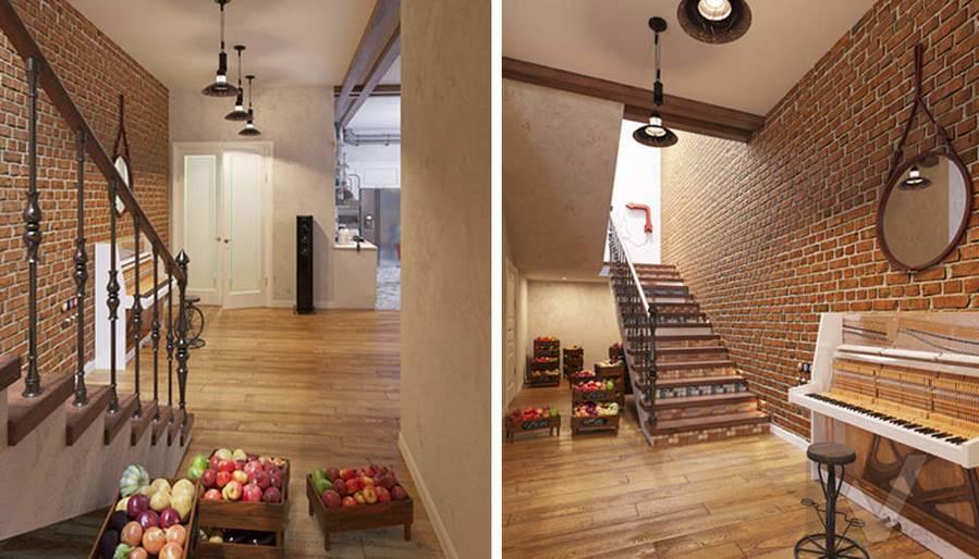 Дизайн гостиной в доме, КП Монтевиль - 4