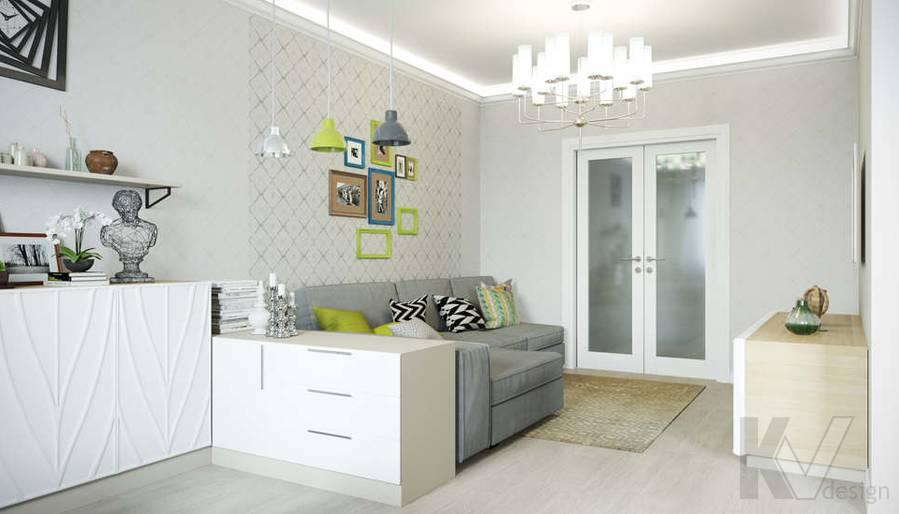 Дизайн гостиной в квартире П-3М на Профсоюзной - 2