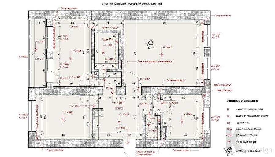планировка в 3-комнатной сталинке, Старый Арбат