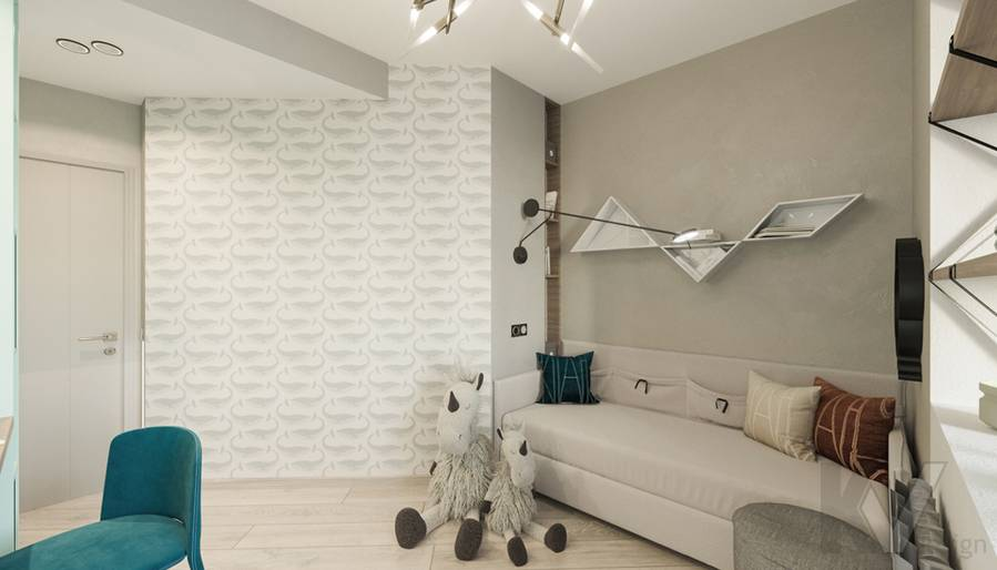 Детская комната в 3-комнатной квартире П-44Т, Медведково - 4
