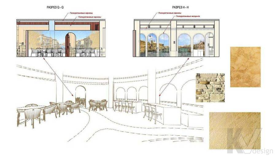 Дизайн ресторана, разрез-3