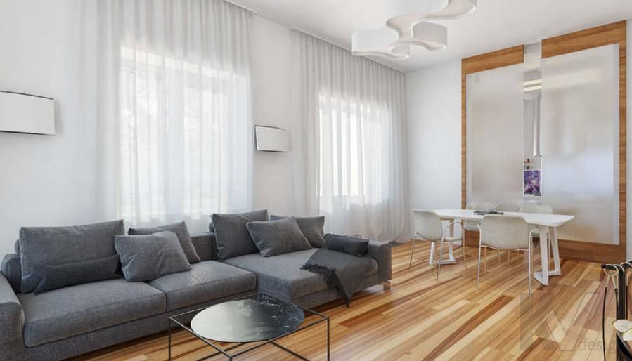 Дизайн гостиной в доме, КП Пестово - 6