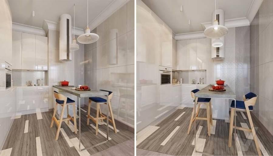 дизайн кухни, квартира на Мосфильмовской - 2