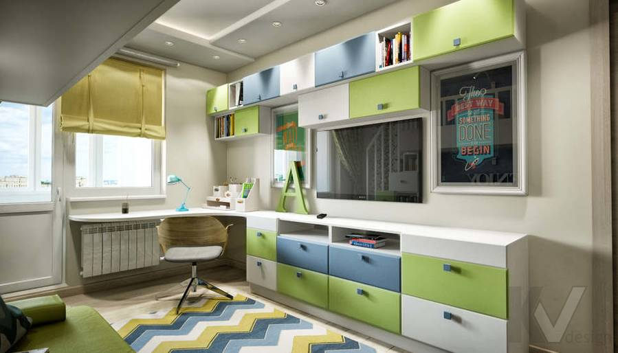 дизайн комнаты старшего ребенка серии П-3, Новое Ясенево - 4