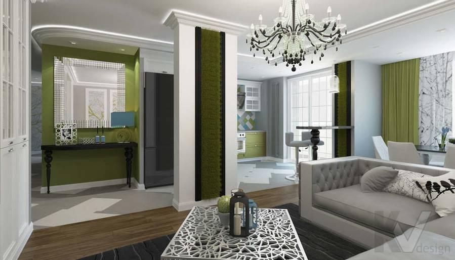 Дизайн гостиной в 5-комнатной квартире, Климовск - 2