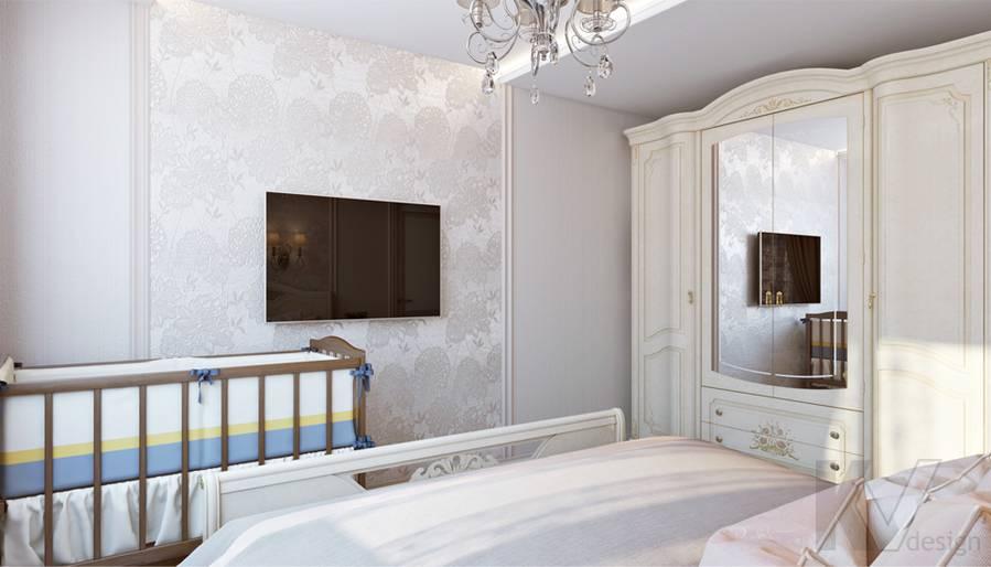 Спальня в 3-комнатной квартире П-44Т, Люблино - 4