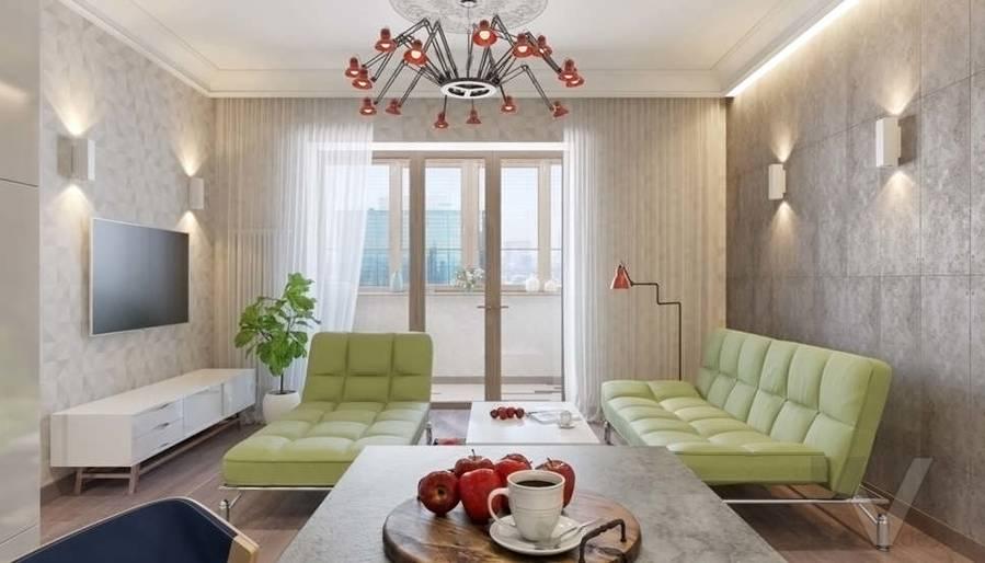 дизайн гостиной, квартира на Мосфильмовской - 4