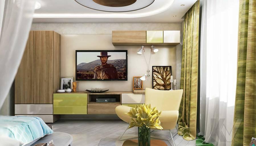 Дизайн гостиной в 2-комнатной квартире - 4