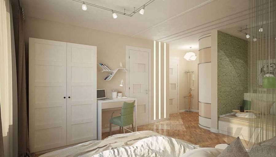 Дизайн квартиры-студии, Коломенская - 2