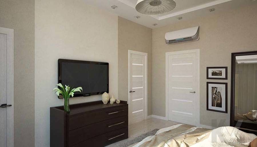 Таунхаус в п. Павлово, дизайн спальни - 7
