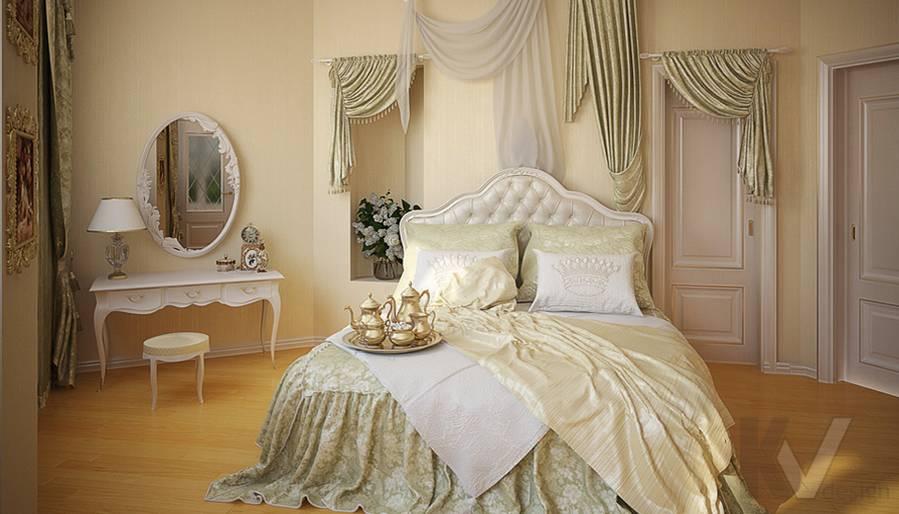 Дизайн квартиры на м. Смоленская, спальня - 2