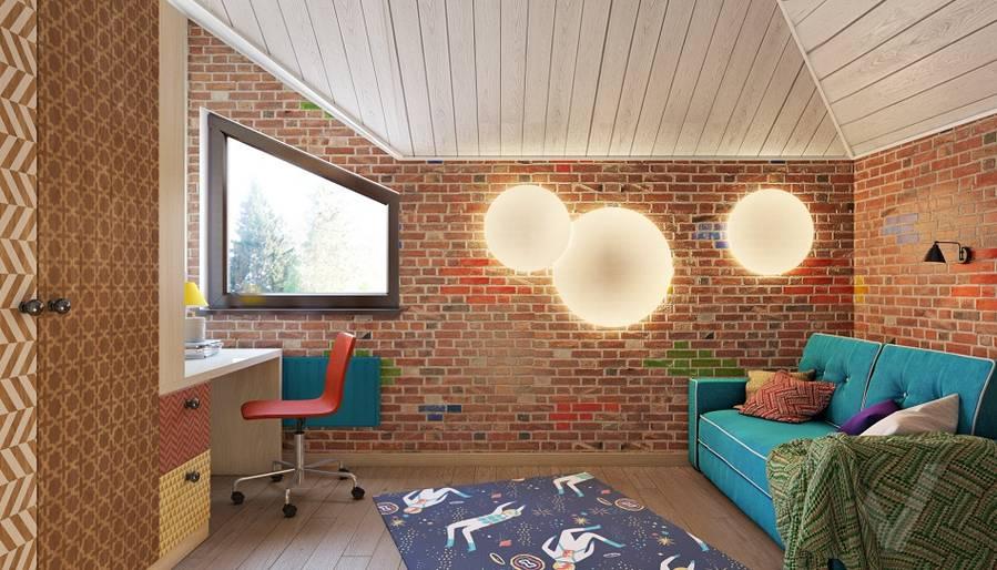 Дизайн детской мальчика в трехэтажном доме - 1