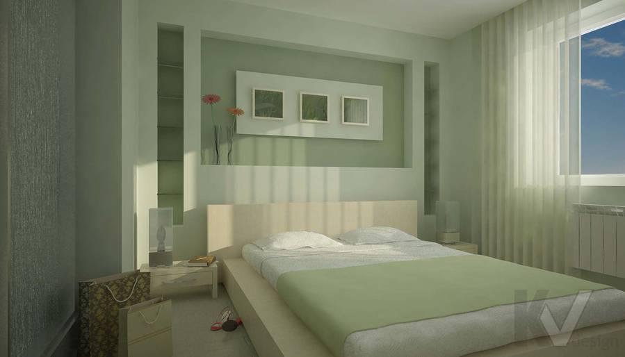 Дизайн квартиры в Марьино, спальня-1