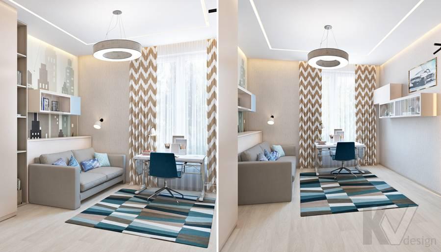 Дизайн детской мальчика в квартире, ЖК Авеню-77 - 5